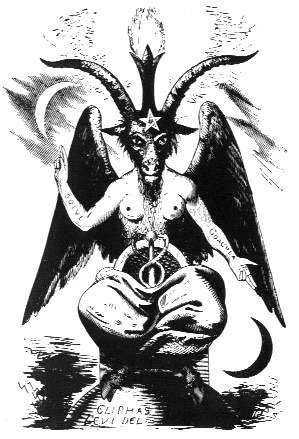 Бафомет Элифаса Леви, рисунок картинка изображение