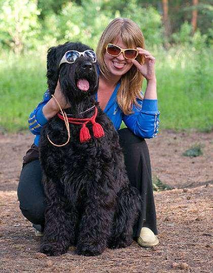 Русский черный терьер, фото породы собак фотография