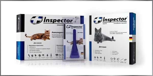 Капли Inspector от блох, клещей и гельминтов для кошек, фото фотография