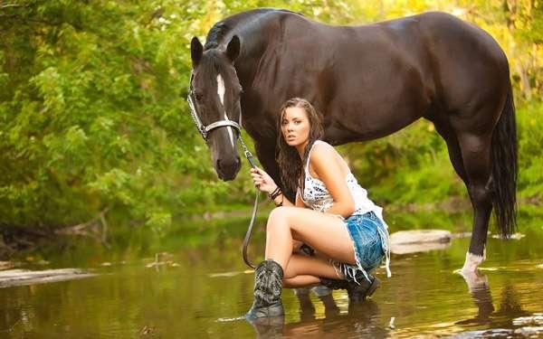 девочка имеет коня видео