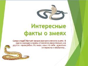 Лучшие презентации для школьников скачать бесплатно скачать  Бесплатно скачать презентацию для школы Интересные факты о змеях