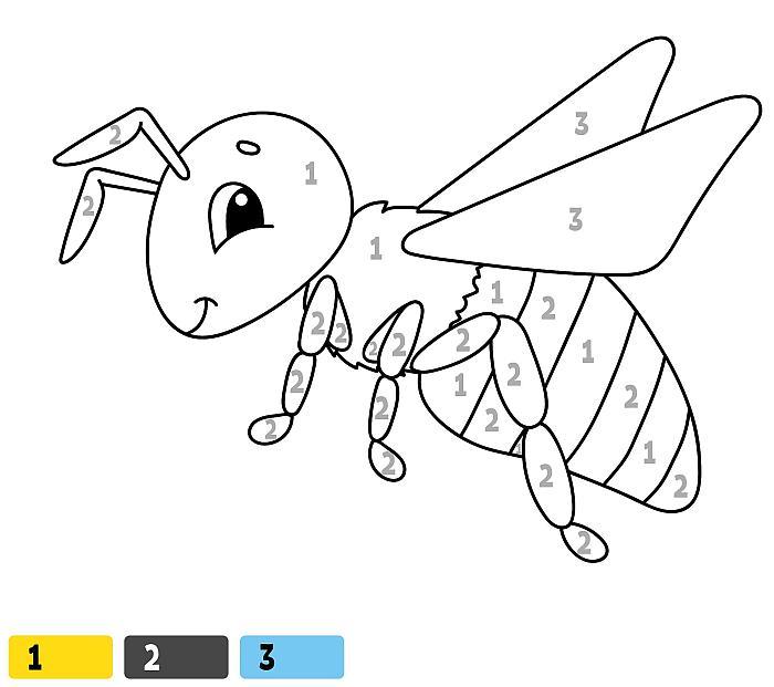 Раскраски по цифрам для детей 3-5 лет, бесплатно раскраски ...