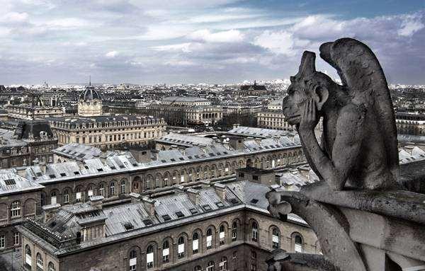 Гаргулья собора Парижской Богоматери, Париж, фото фотография