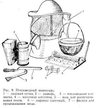 Рис. 9. Пчеловодный инвентарь