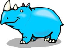 носорог, клипарт