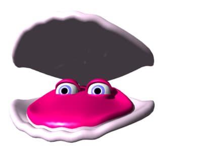 морская ракушка с жемчужиной, клипарт