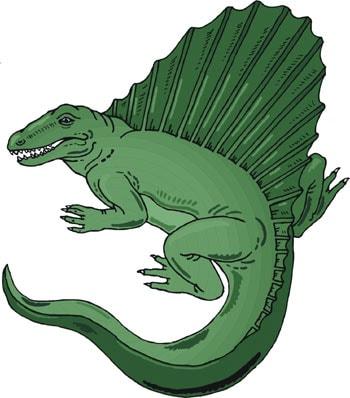 диметродон, динозавр, клипарт