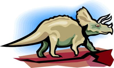 трицератопс, динозавр, клипарт