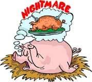 страшный сон свиньи, клипарт