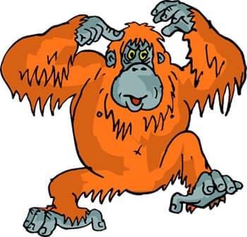 обезьяна, клипарт