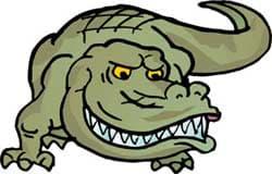 крокодил, клипарт