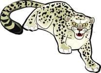 снежный дальневосточный леопард, клипарт
