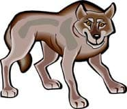 серый волк, клипарт