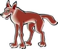 красный волк, пантера, клипарт
