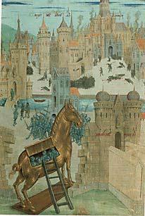 Троянский конь, картинка изображение рисунок