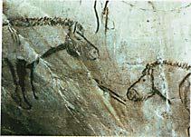 рис 1. наскальные рисунки лошадей, фото фотография, лошади кони