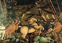 рис 6. картина Паоло Учелло 'Битва при Сан Романе', фото фотография, лошади кони