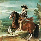 рис 9. картина Веласкеса 'Верховой портрет Филиппа IV', фото фотография, лошади кони