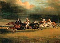 рис 10. картина живописца Эжена Делакруа 'Дерби в Эпсоме', фото фотография, лошади кони