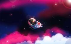 Ежик в космосе,  фотография  обои