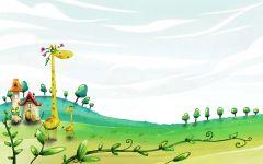 Мультяшные жирафы,  фотография  обои