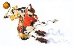 Корова - волейболист