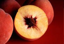 Разрезанный персик, фото обои фотография