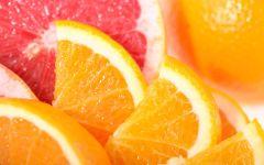 Дольки апельсина и грейпфрута