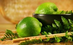 Лайм (Citrus aurantiifolia) обои