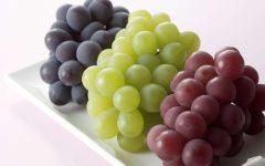 Черный, розовый и зеленый виноград
