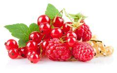 Красная и белая смородина, малина