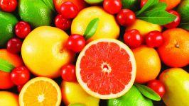 Вишня, грейпфрут, апельсин, лайм