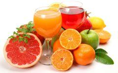 Яблочный и апельсиновый сок