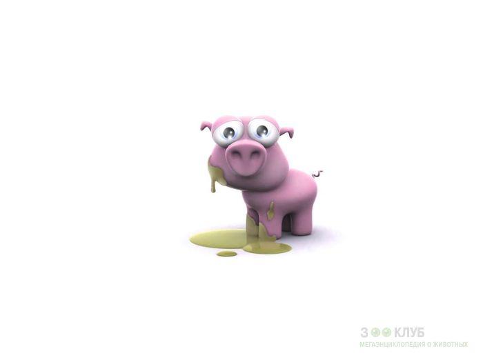 Свинка, извалявшаяся в грязи, рисунок 3d картинка обои